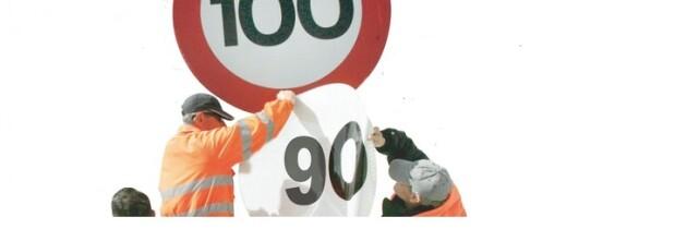 La Velocidad Máxima en Vías Secundarias Será de 90 km/h