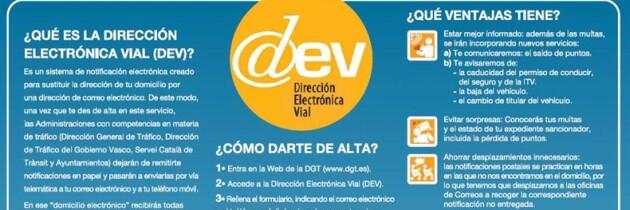 Dirección Electrónica Vial (DEV)