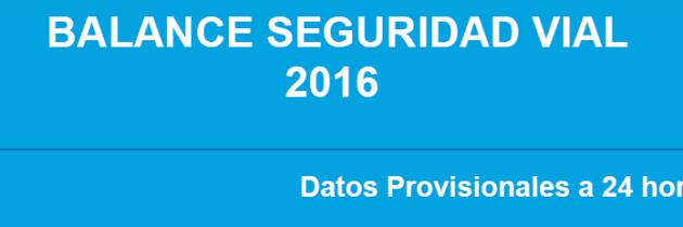 Balance Seguridad Vial 2016